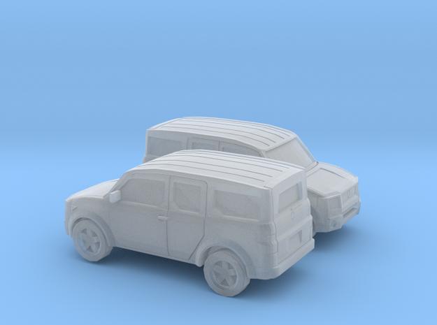 1/200 2X 2002-07 Honda Element in Smooth Fine Detail Plastic