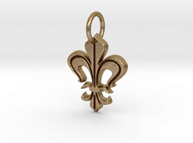 """Heraldic """"Lilie 2"""" in Polished Gold Steel"""