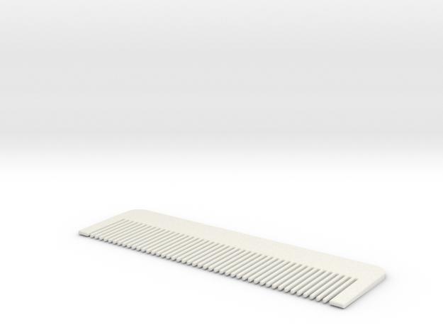 Comb #1 in White Natural Versatile Plastic