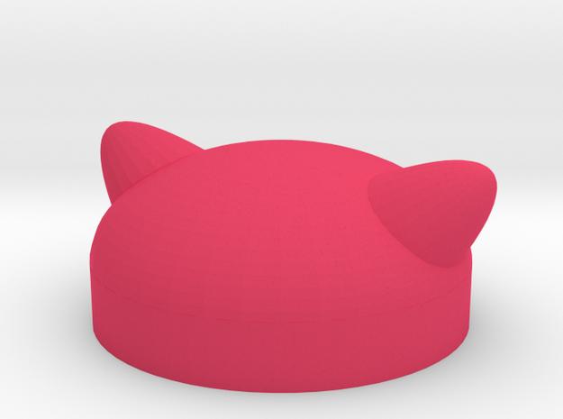 Minifig Pussyhat in Pink Processed Versatile Plastic