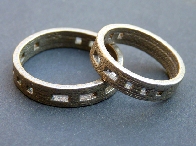 Morse code ring (Customized) in Stainless Steel