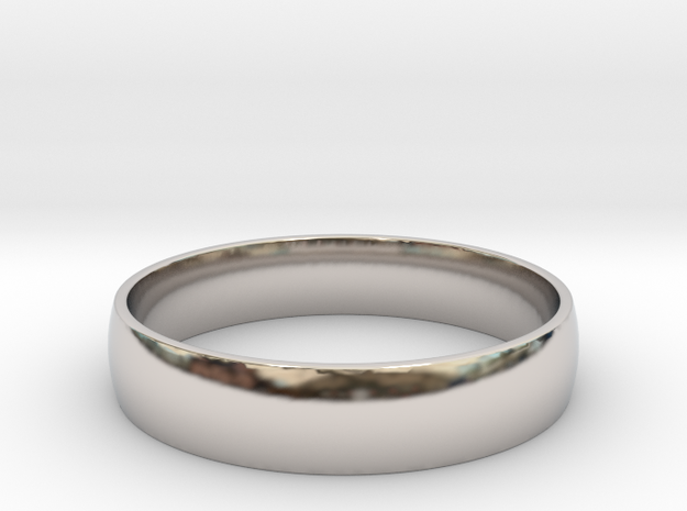 Customizable Ring in Rhodium Plated: 6 / 51.5