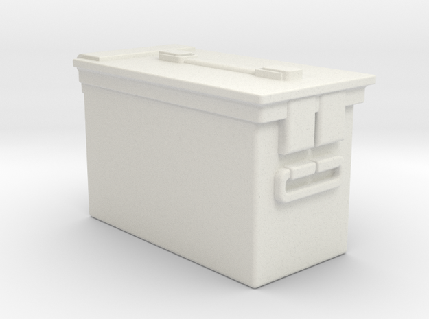 1/10 Ammo Box Single in White Natural Versatile Plastic