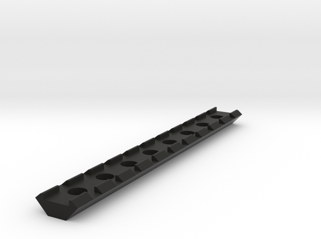 21mm Rail 160mm in Black Natural Versatile Plastic
