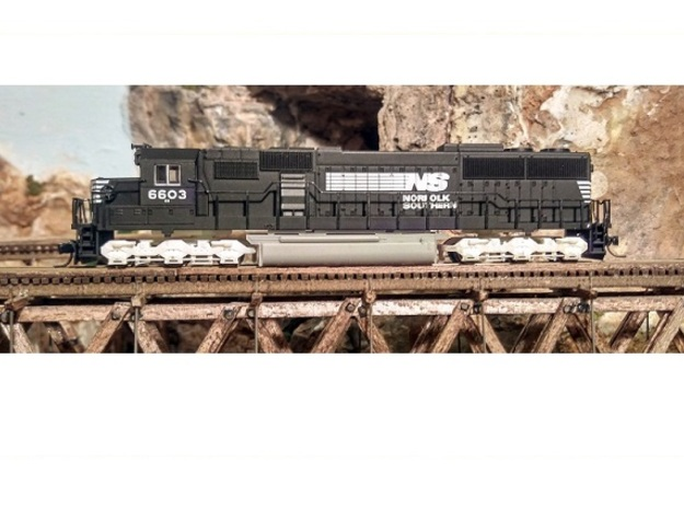 Atlas SD50/SD60/SD60M Dummy Chassis Kit - N Scale in Smooth Fine Detail Plastic