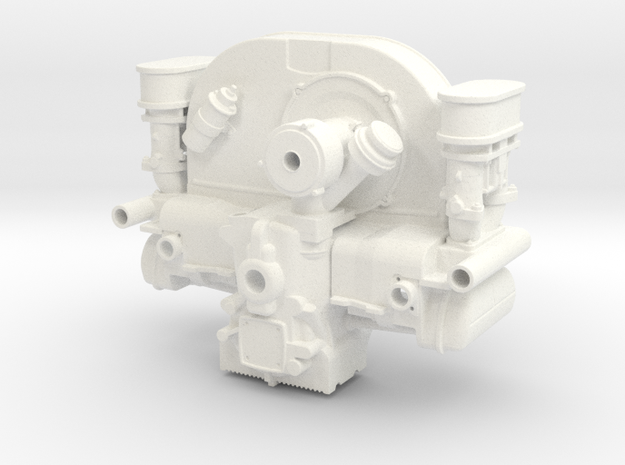 FF10001 Flat 4 Engine Part 1 of 2 in White Processed Versatile Plastic