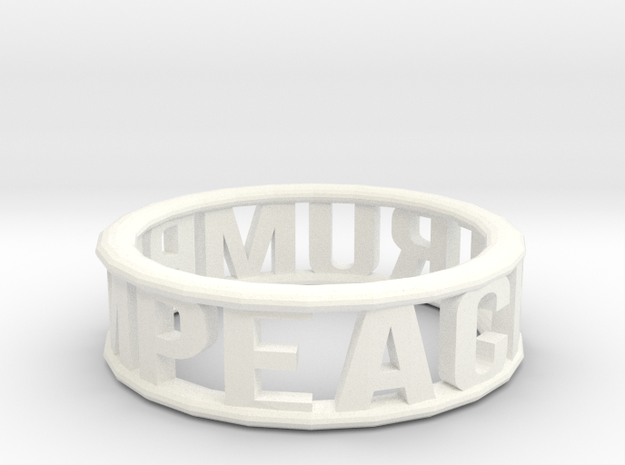 Impeach Trump Bangle in White Strong & Flexible Polished