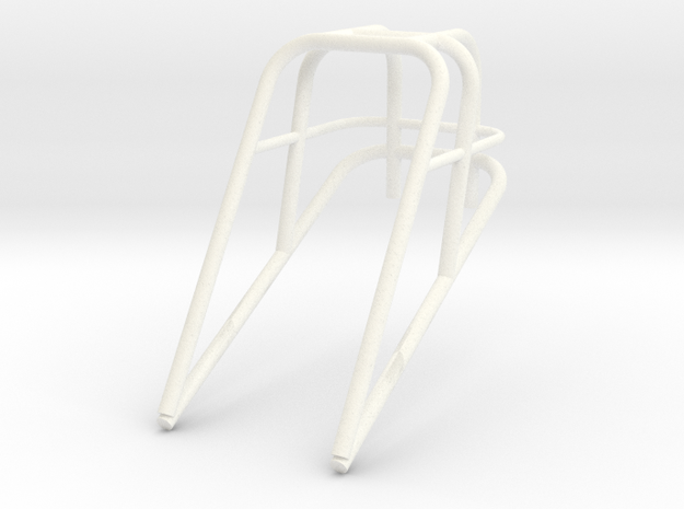 Roll Cage Frame Top Only 1/12 in White Processed Versatile Plastic