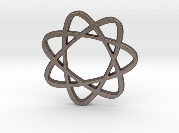 Infinatom in Polished Bronzed Silver Steel