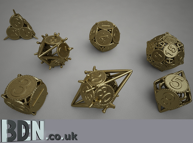 Swords and Shields D&D Dice set D12 3d printed Full set available