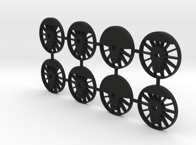 TH&B Driving Wheel Centres Set 1-32 Mk1 in Black Strong & Flexible