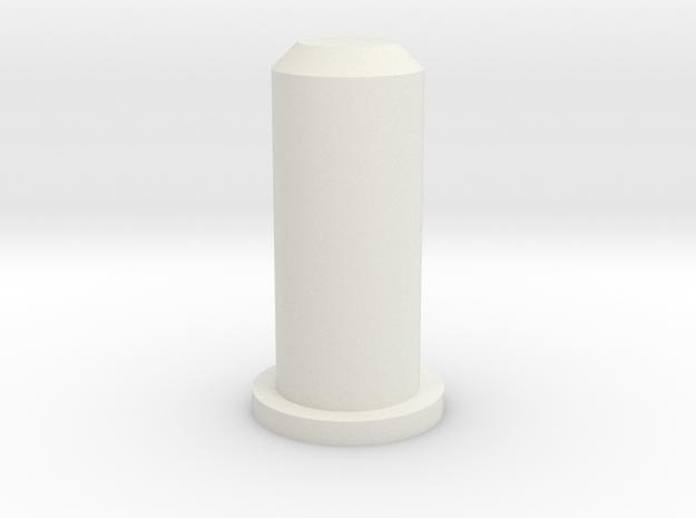 Barrel Plug 2/2 in White Natural Versatile Plastic