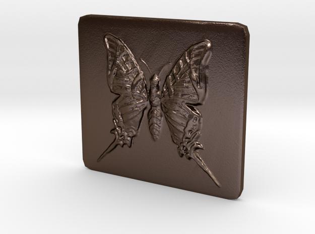 Butterfly Tile in Polished Bronze Steel
