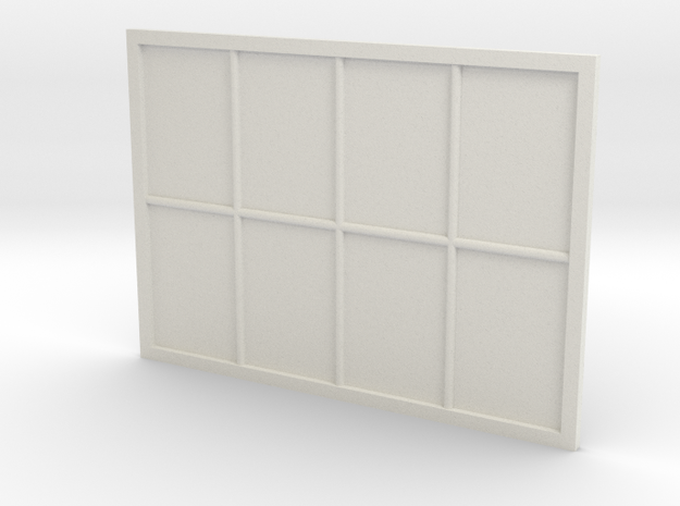 1:24 Scale Colonial Style Window 5' x 7' in White Natural Versatile Plastic