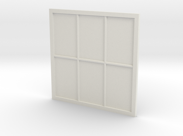 1:24 Scale Colonial Style Window 5' x 5' in White Strong & Flexible