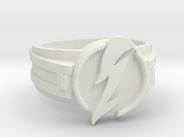 V3 Wavy Flash Ring Size 14 23.01mm in White Strong & Flexible