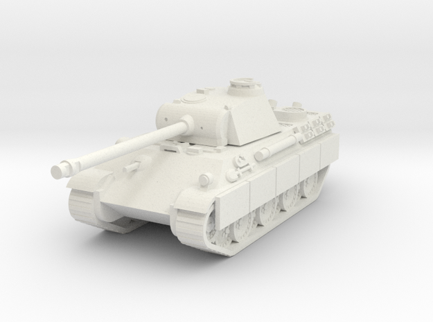 Pzkpfw IV Panther ausf G in White Natural Versatile Plastic