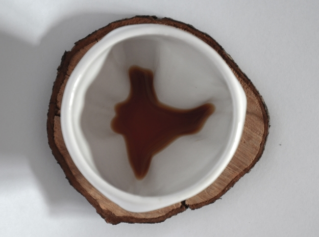 India in a cup in Gloss White Porcelain