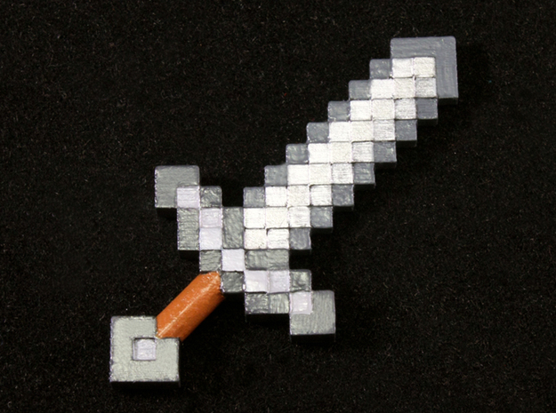 Mine Sword in Smooth Fine Detail Plastic
