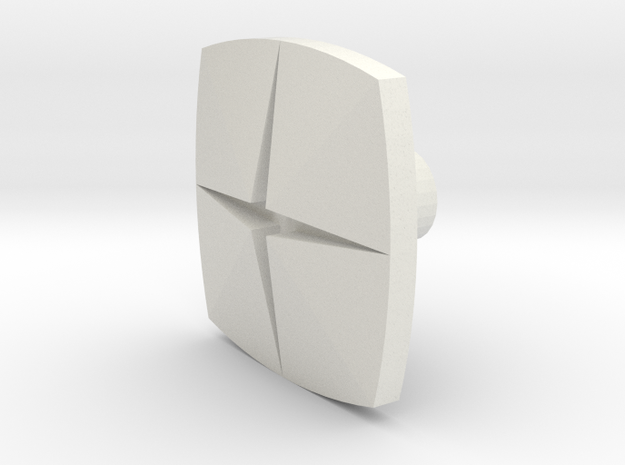 Tile1 (Handle/Pull) in White Natural Versatile Plastic