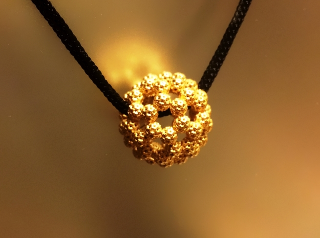 Fractal Fullerene Pendant in 18K Gold Plated