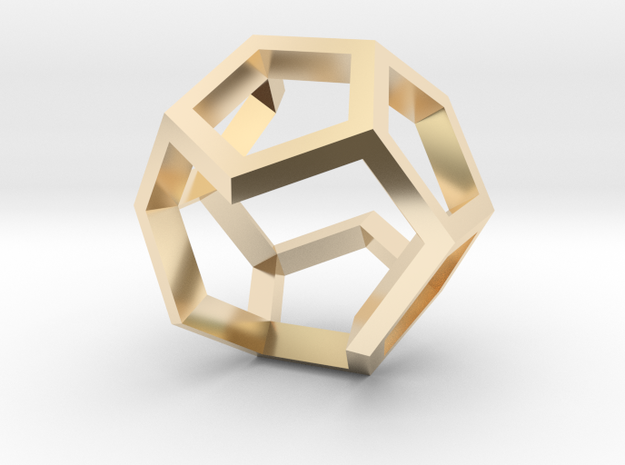 Dodecahedron Sculpture Ring B Gmtrx  in 14K Yellow Gold