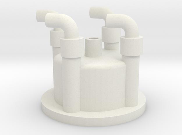 1:6 scale distributor cap in White Natural Versatile Plastic