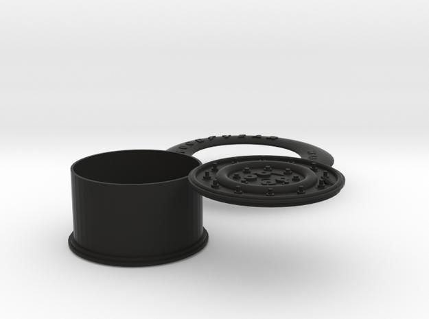 1:6 scale Hasbro HMMWV Spare tire in Black Natural Versatile Plastic