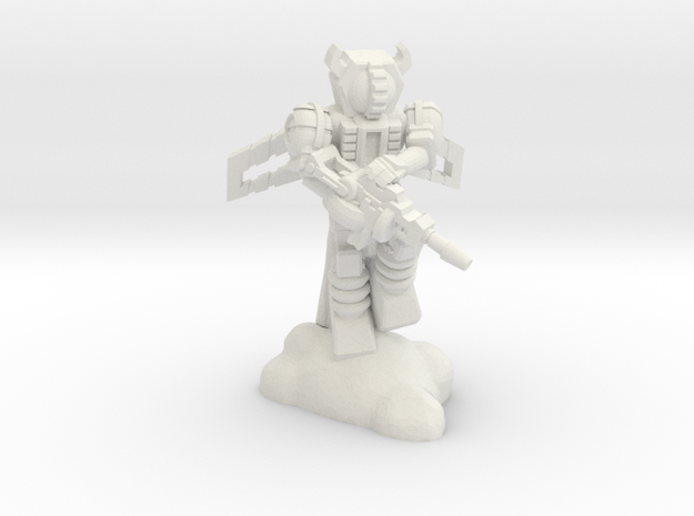 Waruder, Kuwagatrer Jetpack Trooper,  35mm Mini in White Natural Versatile Plastic