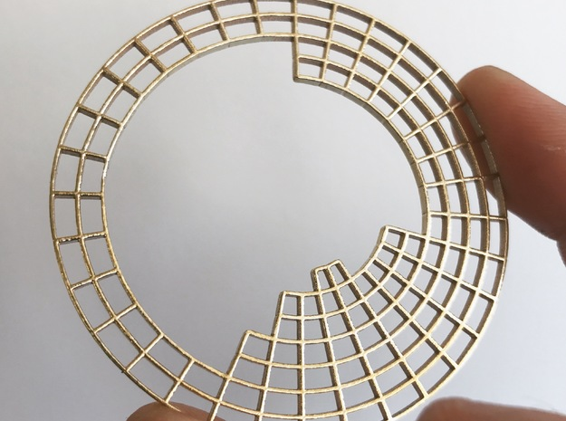 Circular Periodic Table in Raw Brass