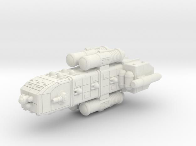 Colonial Light Cruiser in White Natural Versatile Plastic