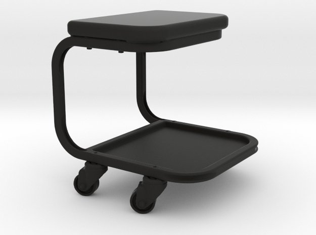 Rolling Mechanic Seat - 1/10 in Black Natural Versatile Plastic