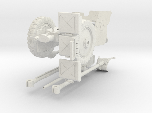 1:18 Pak 36 - German 37mm Anti-Tank Gun v2 in White Natural Versatile Plastic
