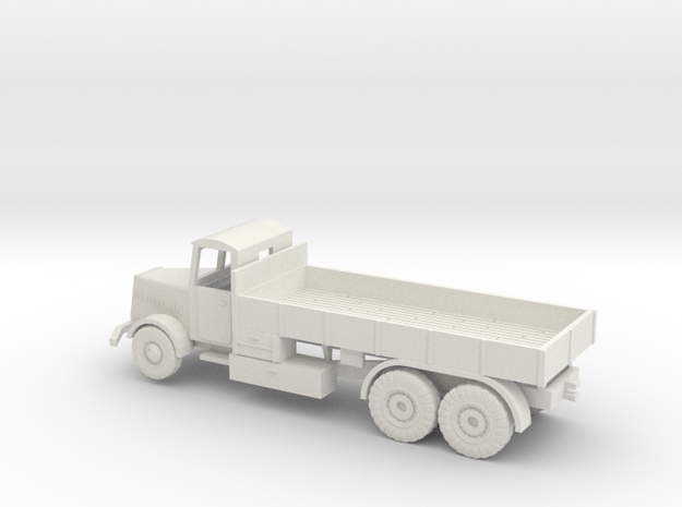 1/144 Faun L900 tank transporter with closed cabin in White Natural Versatile Plastic