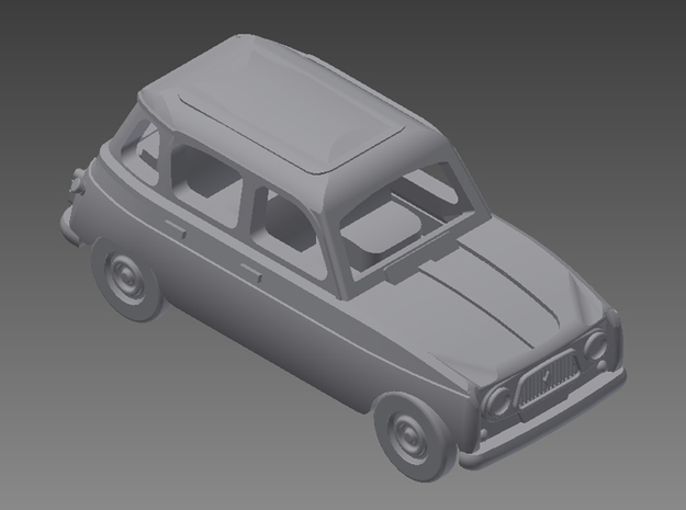 Renault 4 Hatchback 1.gen 1:160 scale (Lot of 4 ) in Smooth Fine Detail Plastic