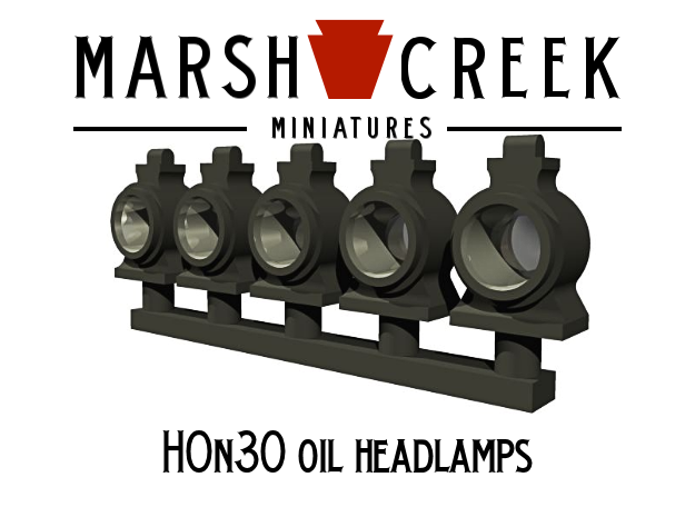 HOn30 Locomotive Oil Lamp in Smoothest Fine Detail Plastic