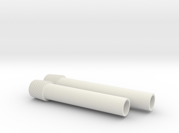 ROTJ Flamethrower Nozzles in White Natural Versatile Plastic