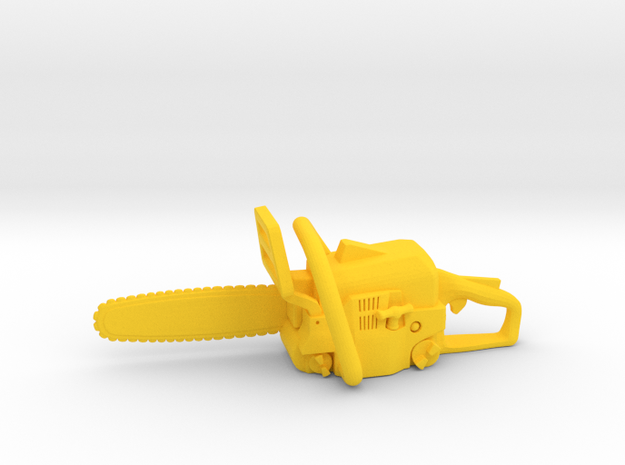 Chainsaw in Yellow Processed Versatile Plastic