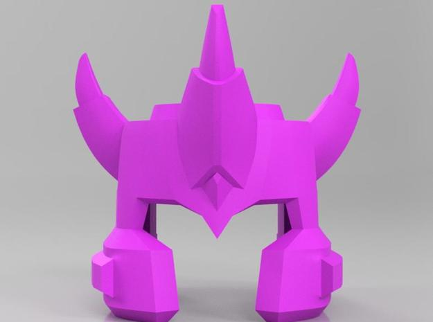Galvatron TR Helm, IDW style  in Purple Strong & Flexible Polished