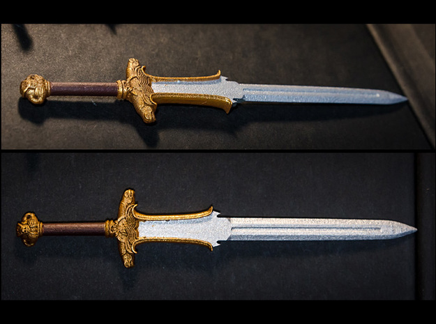 ACC-04-Swords  6-7inch 3d printed Frosted detail plastic and Painted with Acrylics