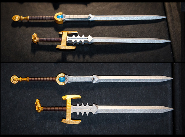 ACC-08-Swords  6-7inch v2.3 3d printed Painted with Acrylics.