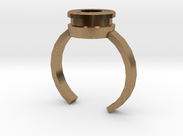 6.5x52mm Carcano case ring in Natural Brass