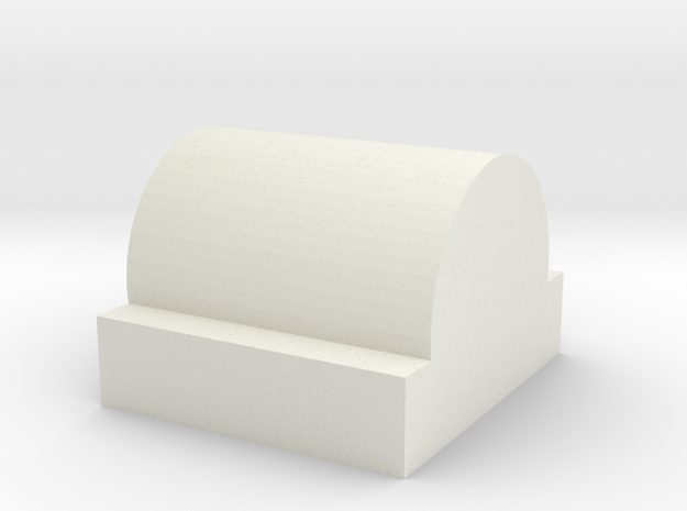 R-hop Nub Stock HopUp Arm in White Natural Versatile Plastic