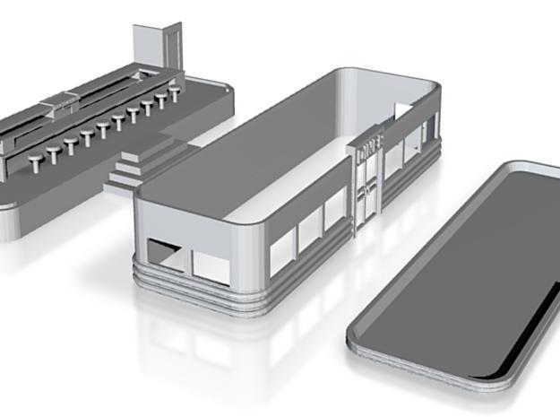 N-Scale Art Deco Diner (In Development) 3d printed