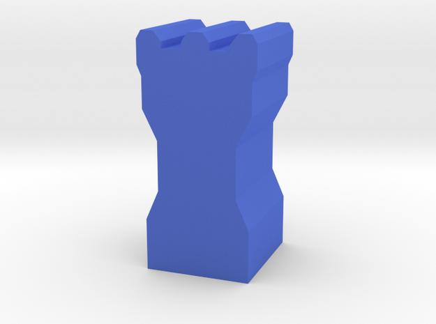 Game Piece, Dwarven Tower in Blue Processed Versatile Plastic