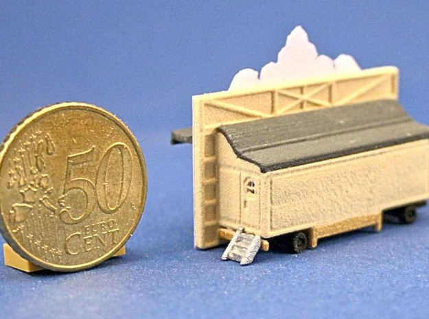"""Orgelwagen"" - 1:220 (z scale) 3d printed bemalt und dekoriert - painted and decorated"