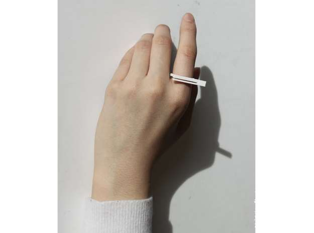 Clio Bookmark Ring in Polished Bronze Steel
