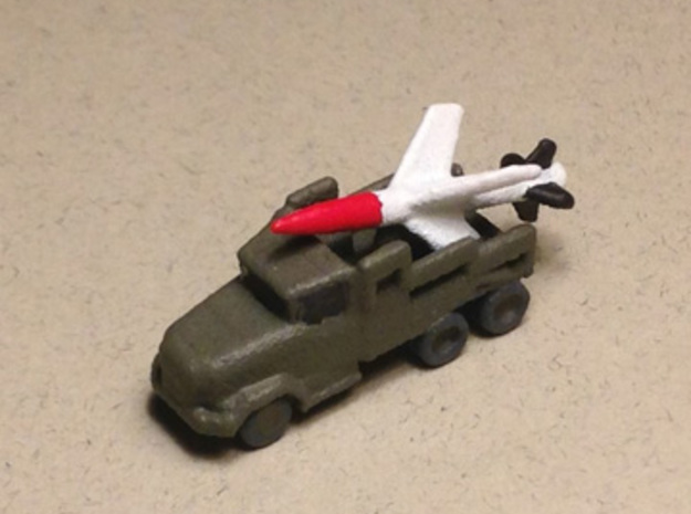 1/285 Scale Lacrosse Missile Launcher in Smooth Fine Detail Plastic