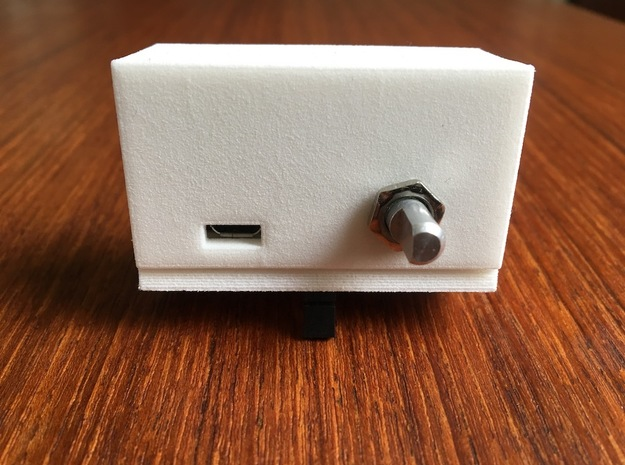 DC-002 Enclosure Back Panel in White Strong & Flexible