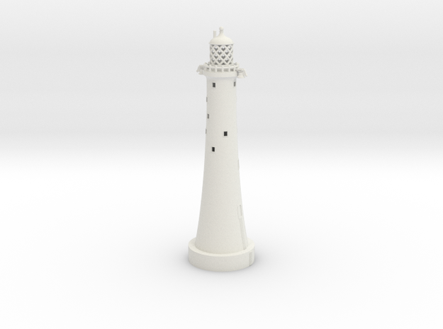 Lighthouse - Eddystone Rocks 1/285th scale in White Natural Versatile Plastic
